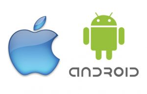 Logo of Iphone and Andoid indicating apps for Code Red are available on these platforms